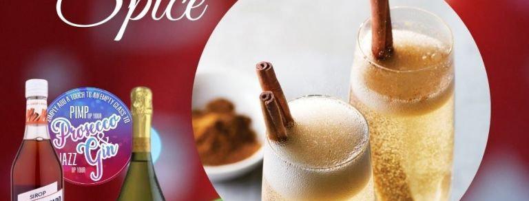 Cinnamon Spice, Prosecco Cocktail