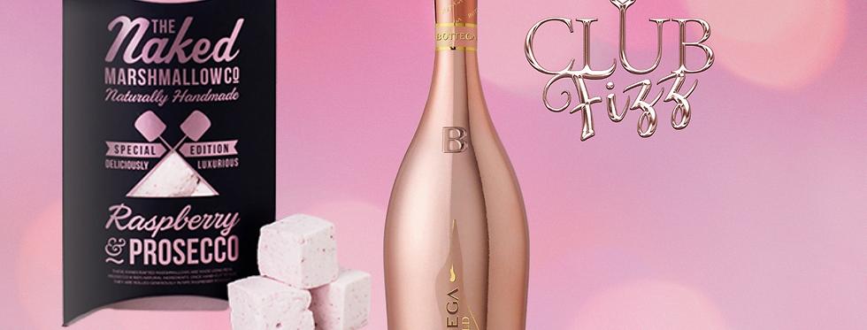 Bottega Rose Gold & Raspberry Prosecco Marshmallows Giftset