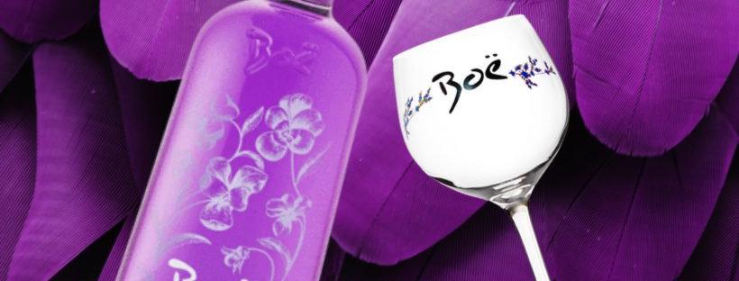 Boe Violet Gin & Glass Giftset