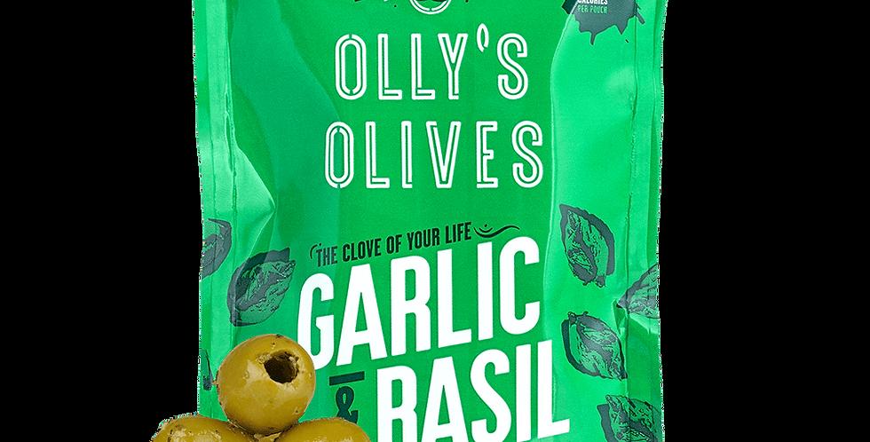 Garlic & Basil Green Olives