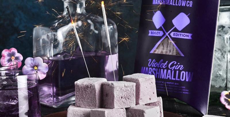 Violet Gin Gourmet Marshmallows