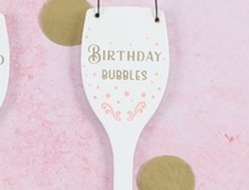 """""""Birthday Bubbles"""" Hanging Sign"""