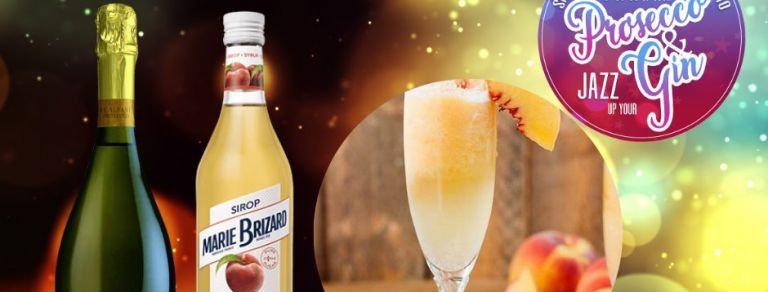 Peach Bellini, Prosecco Cocktail