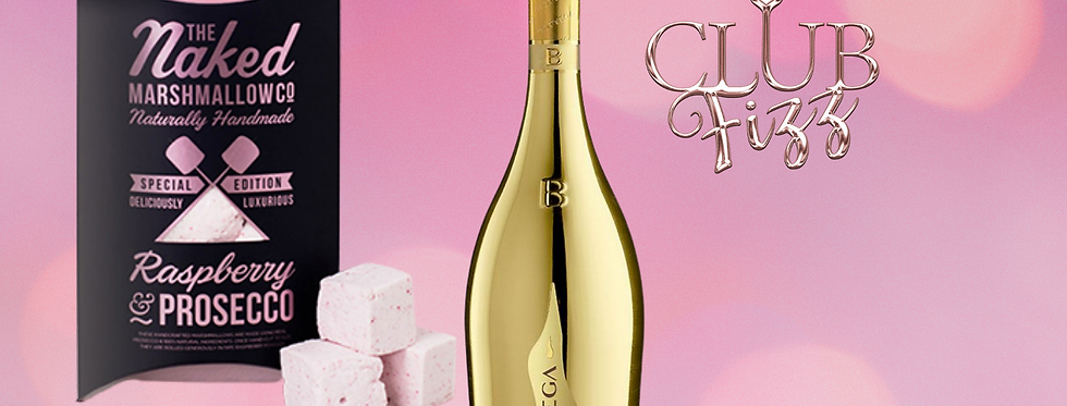 Bottega Gold & Raspberry Prosecco Marshmallows Giftset