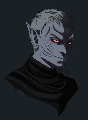 My character Nys Alamvu, a Dunmer-vampire