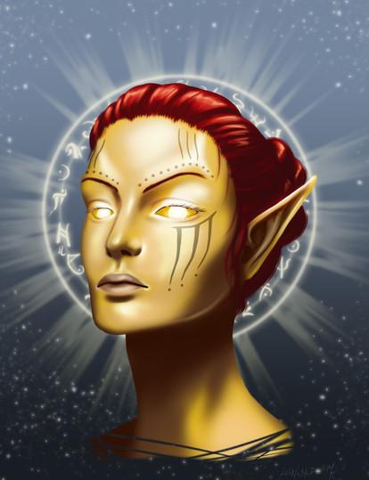 Almalexia, living goddess of the Dunmer in ESO