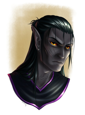 My character Aphelion, Dunmer, Skooma-addict