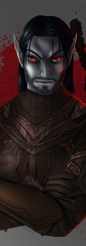 Dralen Sedas, commissioned by Elfenblut for Gallowsbane from the german ESO-Roleplay-Community