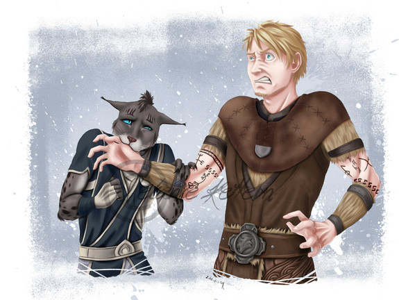 Shano and Lothar for Schollenbruch from the german ESO-Roleplay-Community
