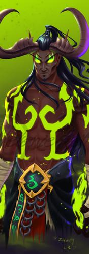 Rhaaz, my partner's demonhunter from World of Warcraft