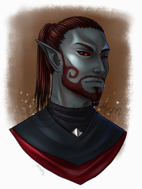 Duril Isuma Telvandril, a member of my slavehunters' guild in ESO