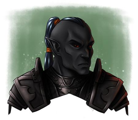 Ilduin Nurel Nav'rhal, a former member of the guards of the slavehunters' fort