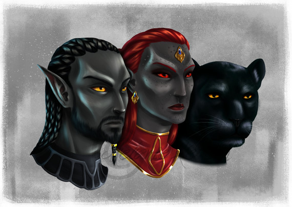 Left to right: Thumar, Norven and Basalt for thumar from the german ESO-Roleplay-Community