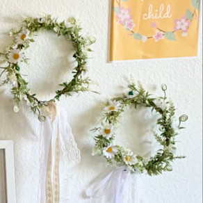 DIY Mom and Me Flower Crowns