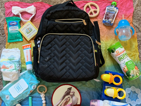 Baby Backpack and park essentials