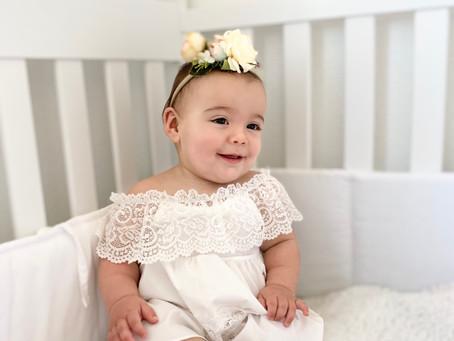 Baby girl white boho off shoulder summer dress with flower headband