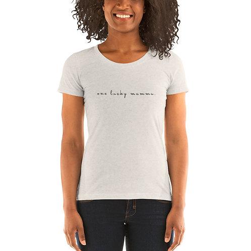 one lucky mamma ' short sleeve t-shirt