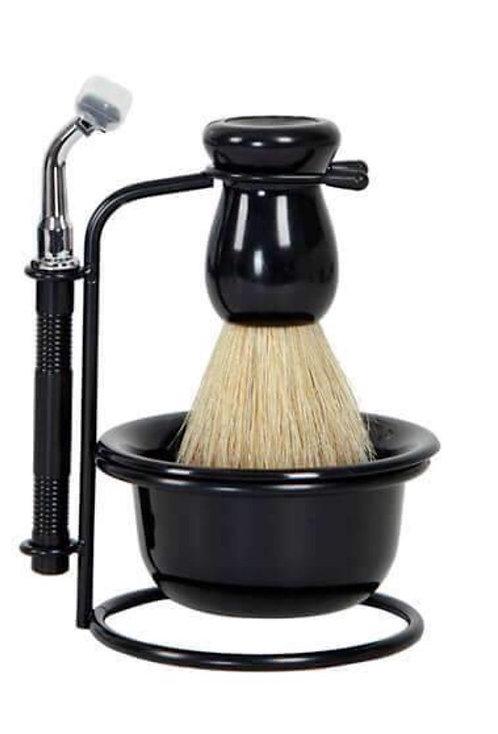 Men's Black Shaving Set