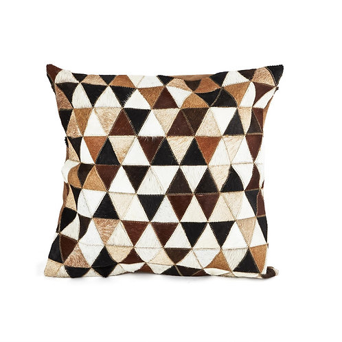 Cowhide Triangle Design Pillow