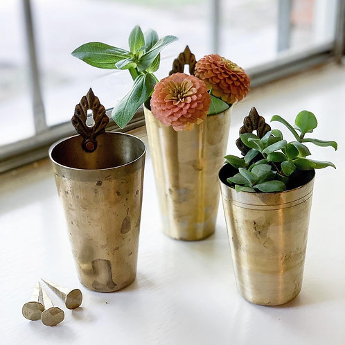 Hanging Brass Lassi Cups