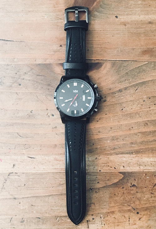 Men's Watch - Black on Black