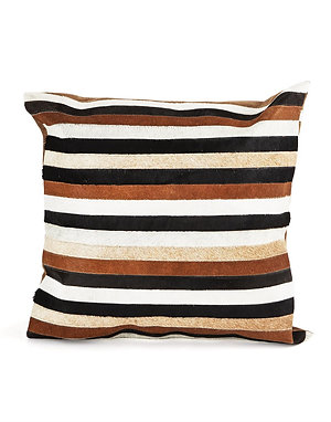 Cowhide Striped Pillow