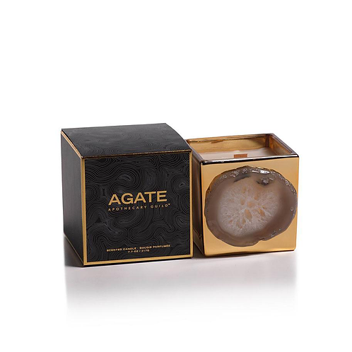 Agate Candle Jar - Oceana