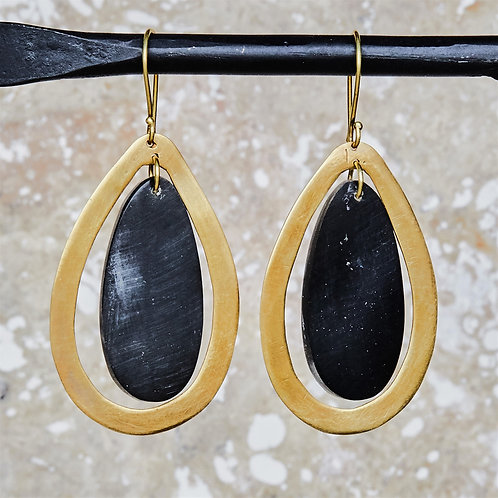 Cassandra Floating Teardrop Earring