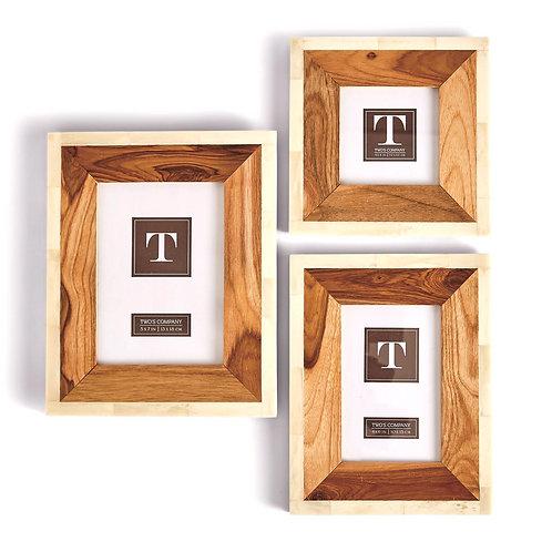 Teakwood & Bone Photo Frame 4x6