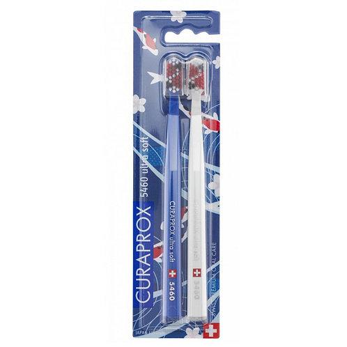 """""""Curaprox 5460 Japan"""" ypač minkšti dantų šepetėliai, 2 vnt. (mėlynas ir baltas)"""