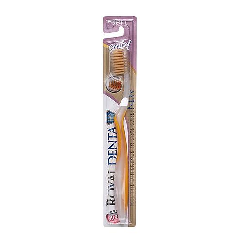 ROYAL DENTA dantų šepetėlis su auksu, minkštas