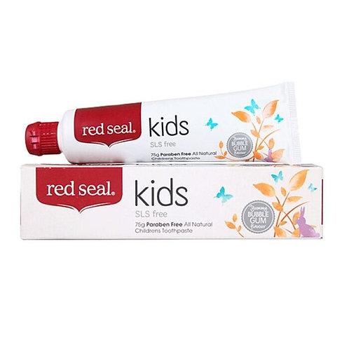 RED SEAL KIDS natūrali persikų ir bananų skonio dantų pasta vaikams, 75gr
