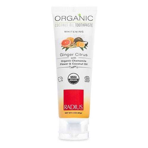 RADIUS Orange Ginger Citrus balinanti organinė dantų pasta, 85gr