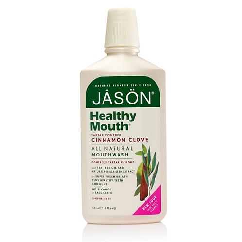 JASON natūralus burnos skalavimo skystis Healthy Mouth™, 473 ml
