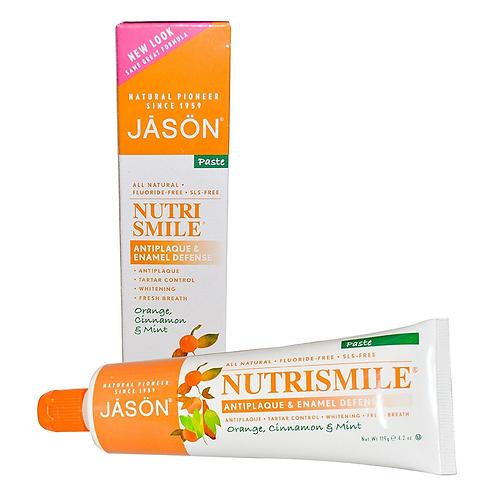 "JASON natūrali dantų pasta ""Nutrismile™ Antiplaque & Enamel Defense"" 122 gr."