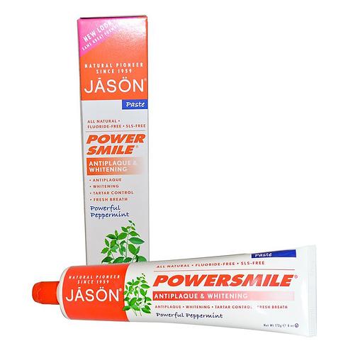 "JASON natūrali balinanti dantų pasta ""Powersmile Antiplaque & Whitening"", 170gr"
