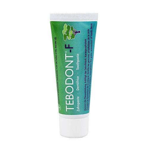 TEBODONT dantų pasta su arbatmedžio aliejumi ir fluoridu, 75ml