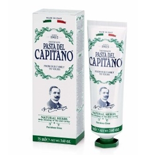 Dantų pasta PASTA DEL CAPITANO Natural Herbs, 75 ml