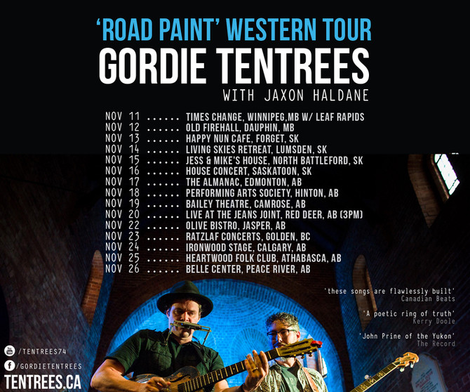 Gordie Tentrees & Jaxon Haldane Announce 'Road Paint'  Western Canada Tour