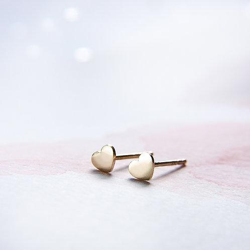 Golden heart earrings 14k