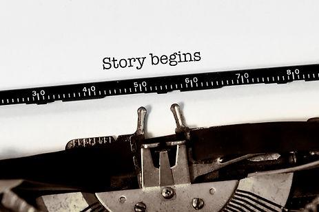 Vintage typewriter on white background w