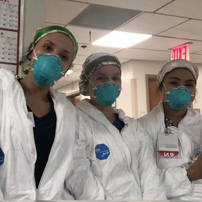 local nurses serve in NYC during early peak of pandemic
