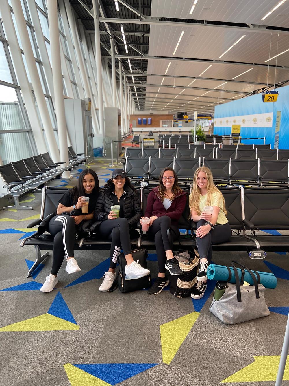 Local nurses in airport