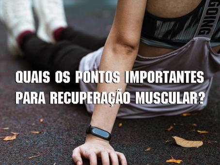 Pontos importantes para recuperação muscular