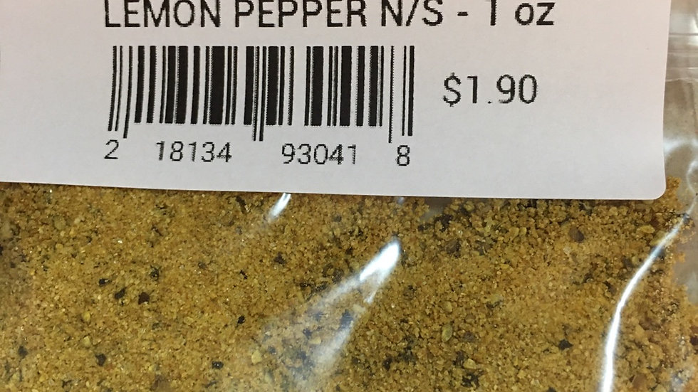 Lemon Pepper (No Salt) - 1 Ounce