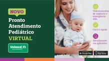 Novo Pronto Atendimento Pediátrico Virtual 24h Unimed Santa Maria já está disponível