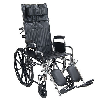 Chrome Sport Reclining Wheelchair