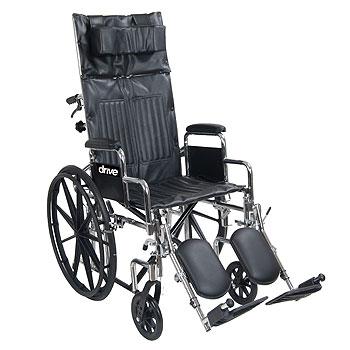 Chrome Sport Reclining Wheelchair