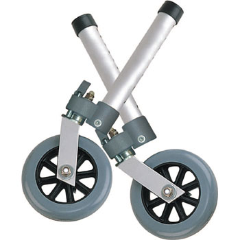 5in Swivel Wheel with Rear Glides
