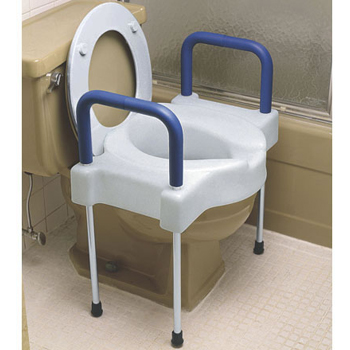 Extra Wide Tall-Ette Bariatric Elevated Toilet Seat with Legs
